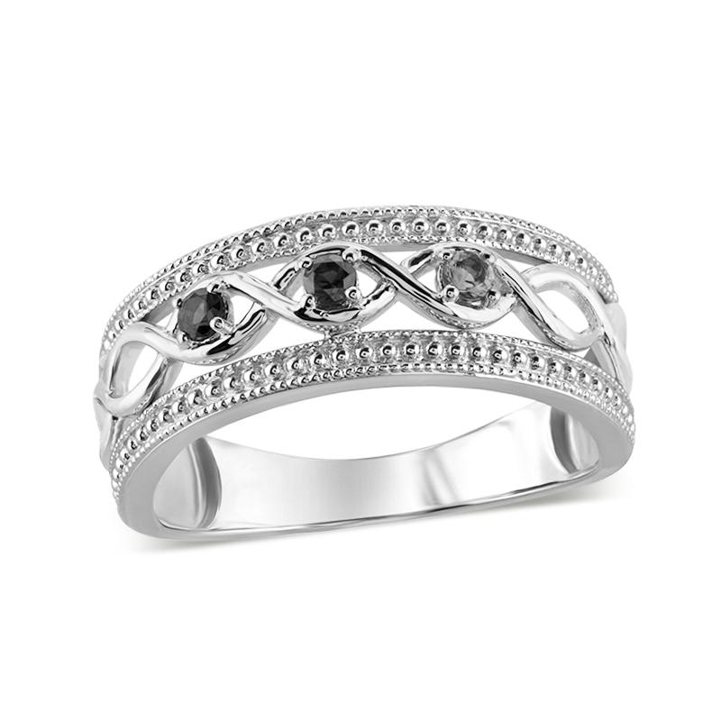 0b0df0b5149c2 Mother's Genuine Birthstone Beaded Infinity Ring (3-7 Stones) Zales